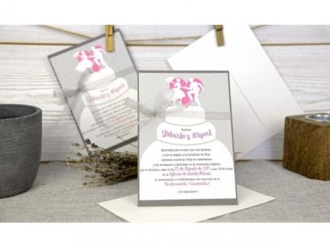 Invitación de boda - ORIGINAL PASTEL BODA   (C66332)