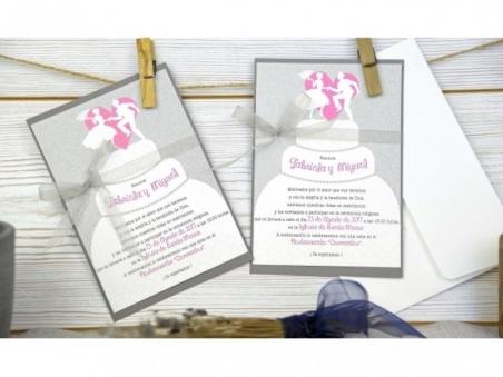 Invitación de boda ORIGINAL PASTEL BODA CARD 32663