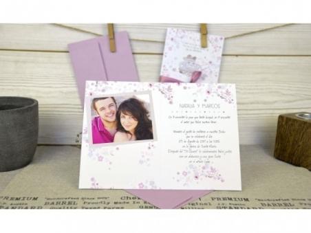 Invitación de boda diferente y ORIGINAL CON FOTO CARD 32673