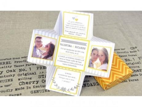 Invitación de boda - ORIGINAL CAJA CON FOTOS    (C68932)