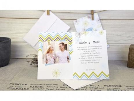 Invitación de boda - ORIGINAL CON FOTO   (C67932)
