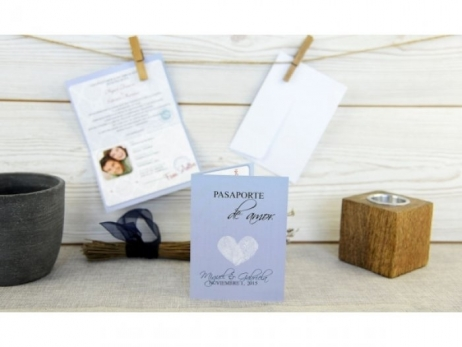 Invitación de boda - ORIGINAL PASAPORTE CON FOTOS  (C65332)
