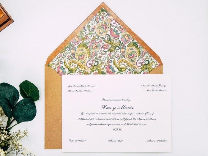 Invitacion de boda clasica - ORNAMENTOS FLORAL ref. love4