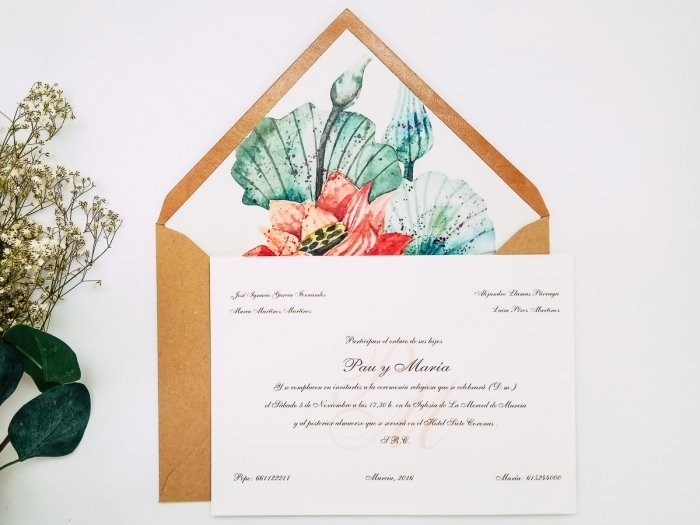 Invitacion de boda clasica - FLORAL ref. love5