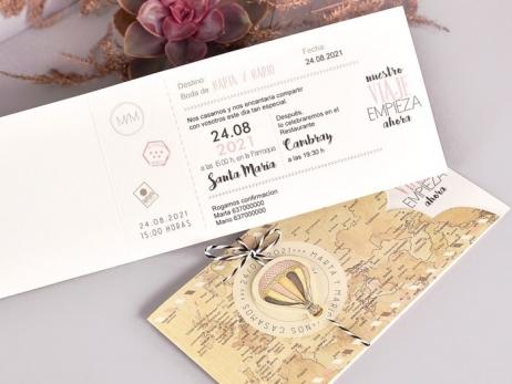 Invitación de boda - NUESTRO VIAJE   (C70339)