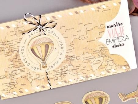Invitación de boda NUESTRO VIAJE 39703
