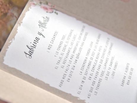 Invitación de boda - PAREJA VINTAGE    (C70539)