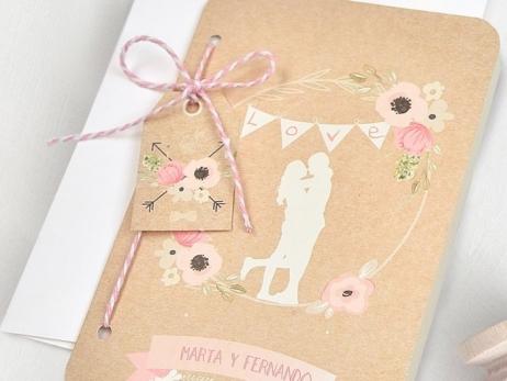 Invitación de boda - PASAPORTE AMOR   (C70639)