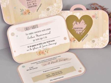 Invitación de boda MALETA DE VIAJE RASCA 39710