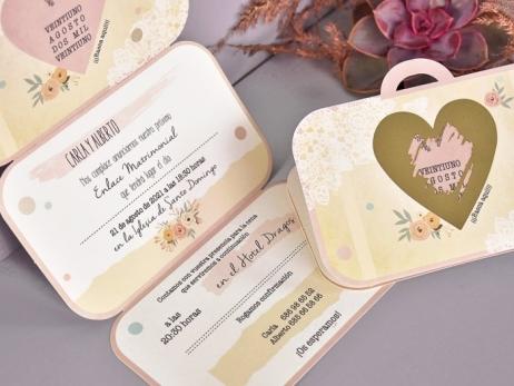Invitación de boda - MALETA DE VIAJE RASCA   (C71039)