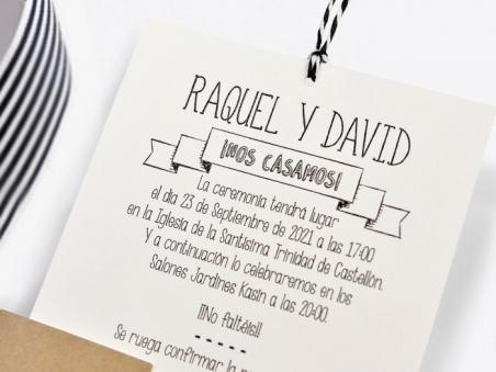 Invitación de boda original CAMARA POLAROID CON FOTO