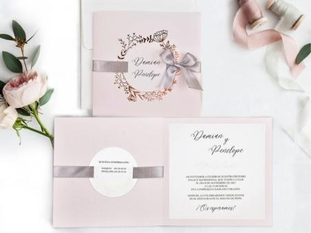 Invitación de boda foil ELEGANTE GOLD ROSE