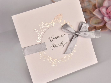 Invitación de boda - ELEGANTE GOLD ROSE   (C71639)