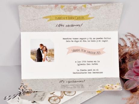 Invitación de boda - 2 BICICLETAS   (C71739)