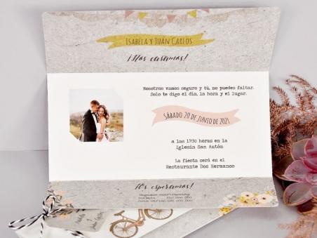 Invitación de boda diferente 2 BICICLETAS CARD 39717
