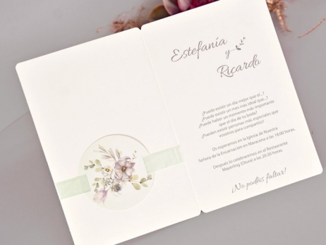 Invitación de boda - ROMANTICA MINT  (C72139)