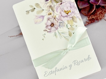 Invitación de boda barata ROMANTICA MINT CARD 39721