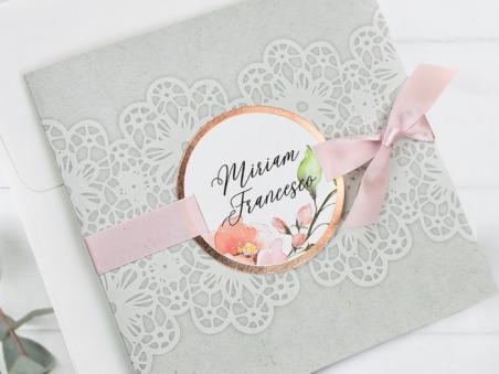 Invitación de boda FLORES ENCAJE CARD 39728