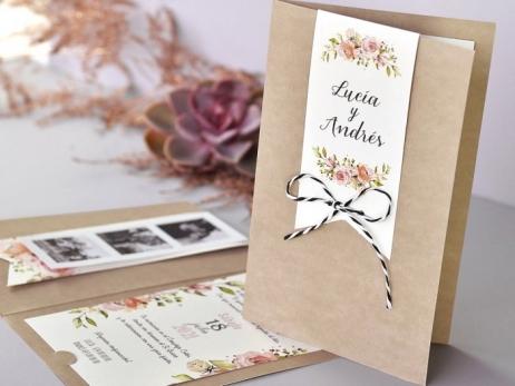 Invitación de boda - ROMANTICA CON TIRA FOTOS    (C73239)