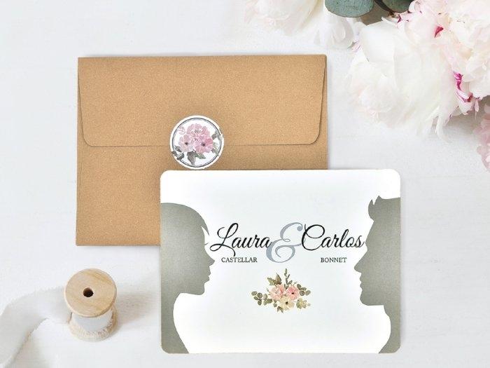Invitación de boda - NOVIOS SOMBRAS    (C74139)