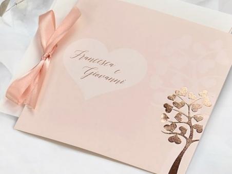 Invitación de boda original elegante ROSA FOIL 39747