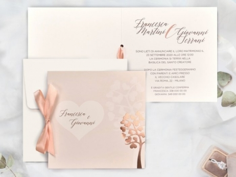 Invitación de boda - ROSA NUDE FOIL    (C74739)