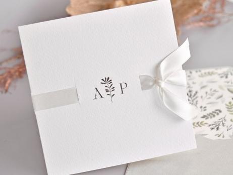 Invitación de boda - ELEGANTE sin forro en el sobre  (C75139)