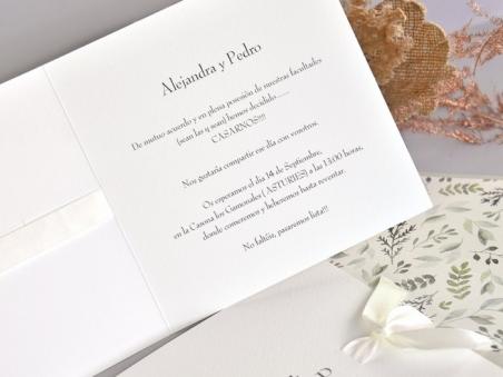 Invitación de boda barata ELEGANTE 39751