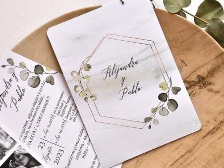 Invitación de boda barata tira fotos  39784