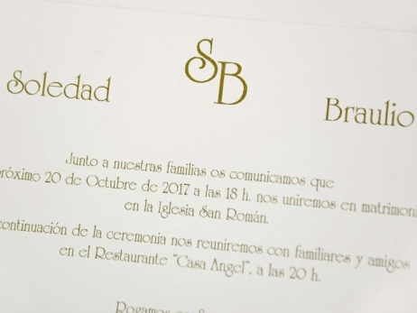 Invitación de boda - CLASICA DORADA  (C83732)