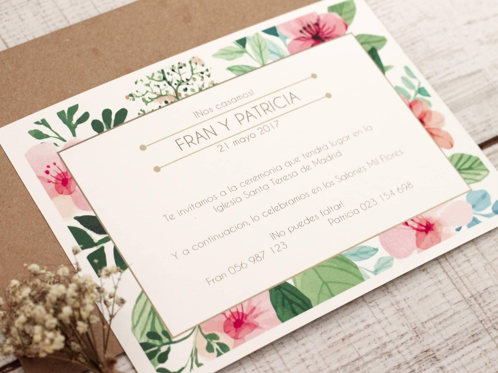 Invitación de boda - FLORAL SPRING 2