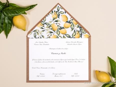 Invitación de boda - LIMONES