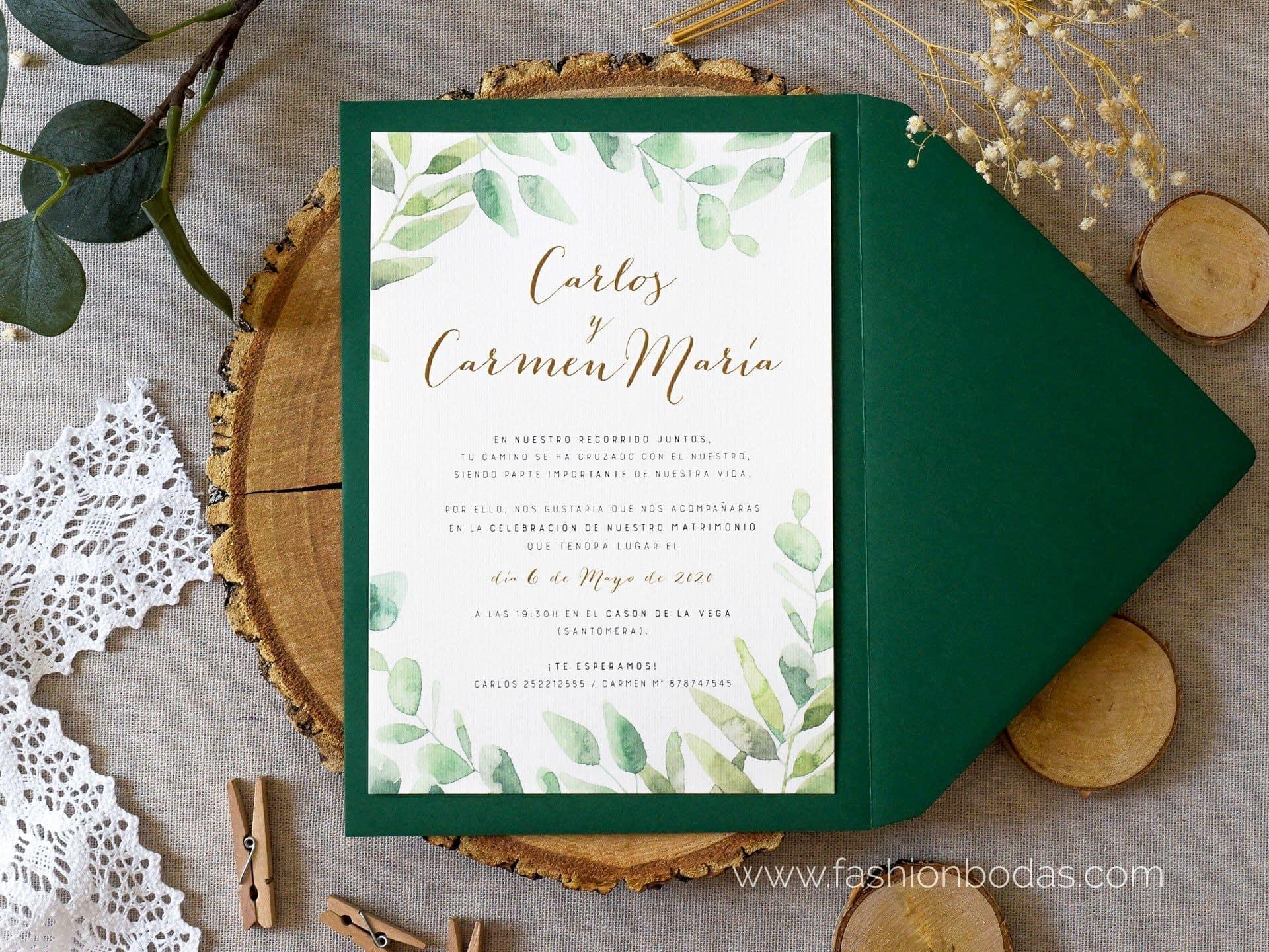 Invitación de boda - EUCALIPTO ACUARELA