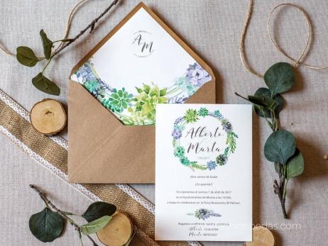 Invitación de boda - NATURAL CORONA