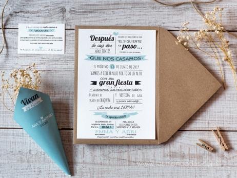 Invitación de boda - MODERNA 2