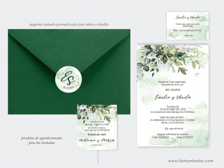 Invitación de boda - BOTÁNICA ACUARELA