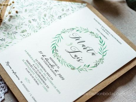 Invitación de boda - NATURAL VERDE