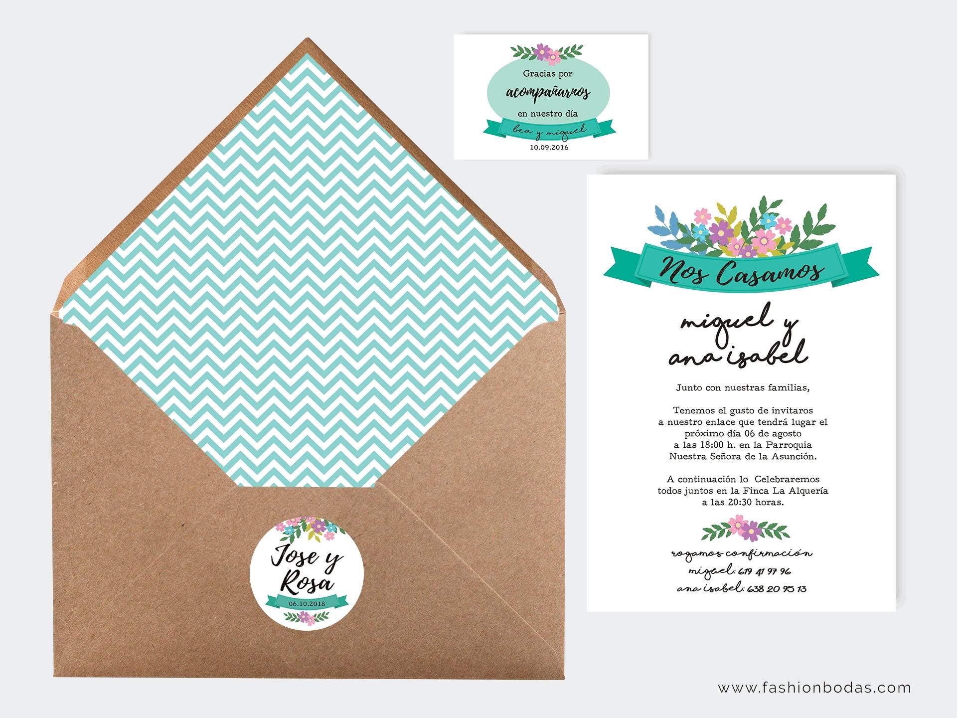 Invitación de boda - CARTEL FLORAL