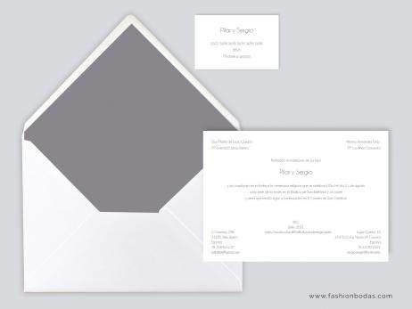 Invitación de boda - CLÁSICA SIMPLE GRIS