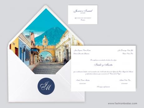 Invitación de boda - CLÁSICA EFECTO ACUARELA