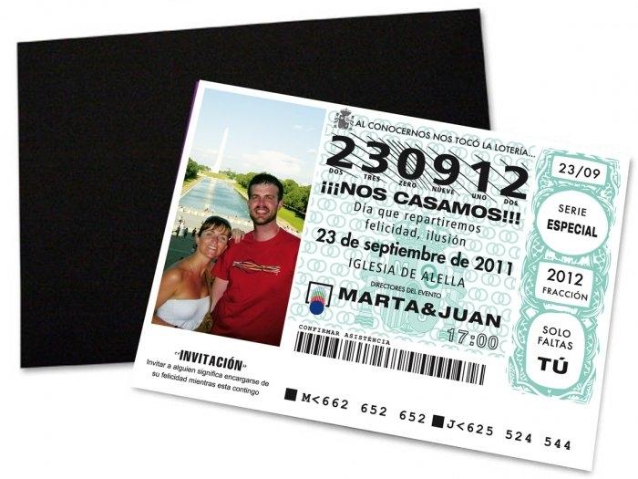Invitación de boda - LOTERIA