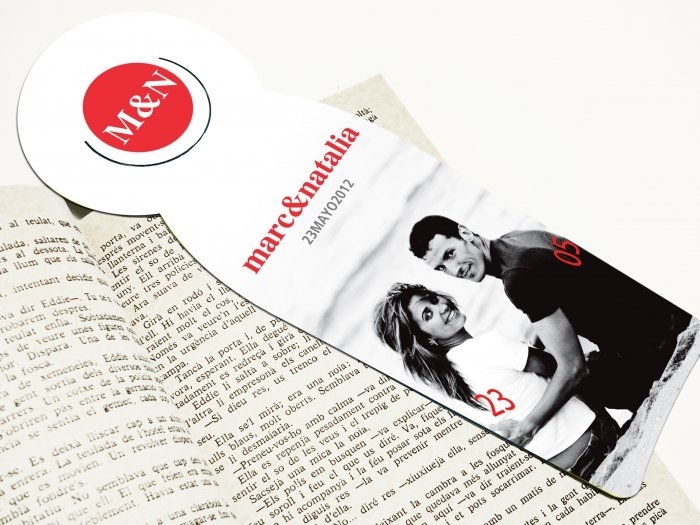 Invitación de boda - PUNTO DE LIBRO FOTO