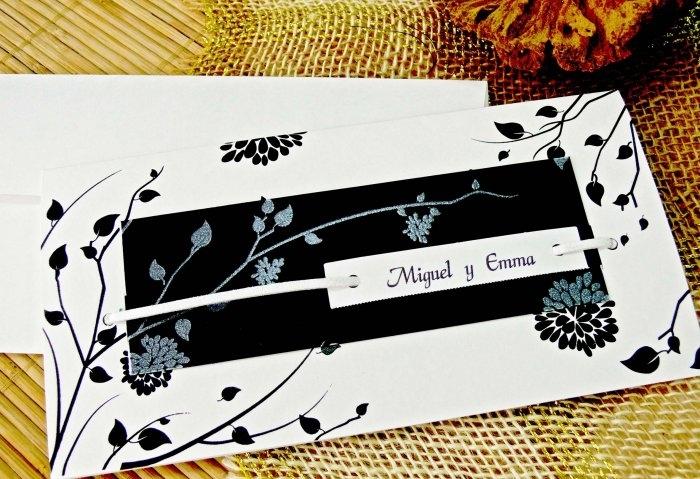 Invitación de boda - BLANCO Y NEGRO   (CARD 32704)