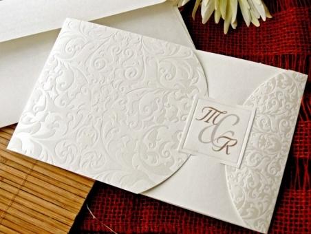 Invitación de boda barata elegante sencilla 32720