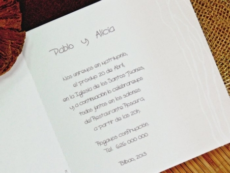 Invitación de boda barata sencilla 32743