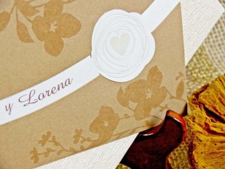 Invitación de boda - FLORAL DORADA   (CARD 32753)