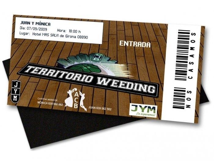 Invitación de boda - ENTRADA DE BASQUET