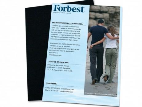 Invitación de boda - FORBEST
