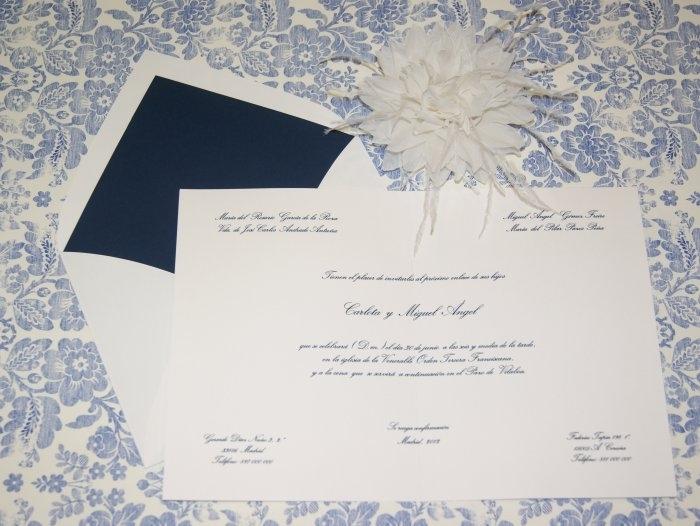 Invitación de boda - CLÁSICA 4102 Doble
