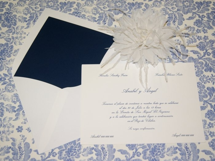 Invitación de boda - CLÁSICA 4102 Simple
